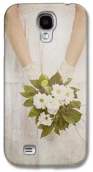 Greeting Cards Pyrography Galaxy S4 Cases - Wedding Bouquet Galaxy S4 Case by Jelena Jovanovic