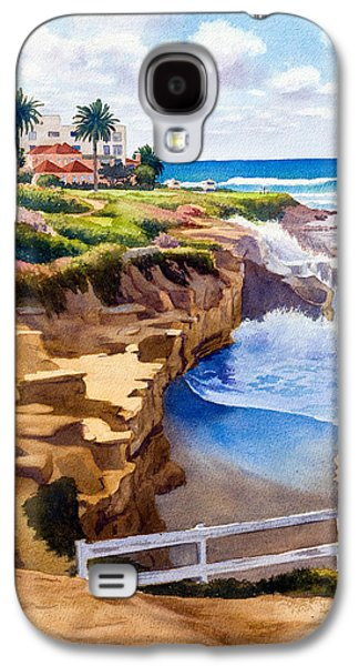 Clouds Paintings Galaxy S4 Cases - Wedding Bowl La Jolla California Galaxy S4 Case by Mary Helmreich