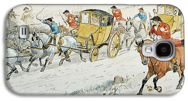 Slush Galaxy S4 Cases - Wedding Procession Returning From Church Galaxy S4 Case by Randolph Caldecott