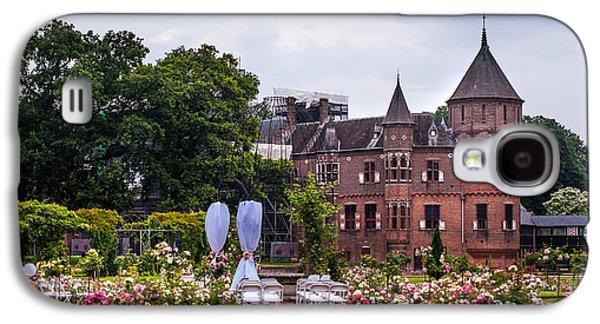 Garden Scene Galaxy S4 Cases - Wedding Setting in De Haar Castle. Utrecht Galaxy S4 Case by Jenny Rainbow