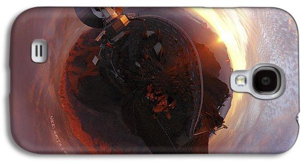 Planetoid Galaxy S4 Cases - Wee La Silla Cloudscape Planet Galaxy S4 Case by Nikki Marie Smith