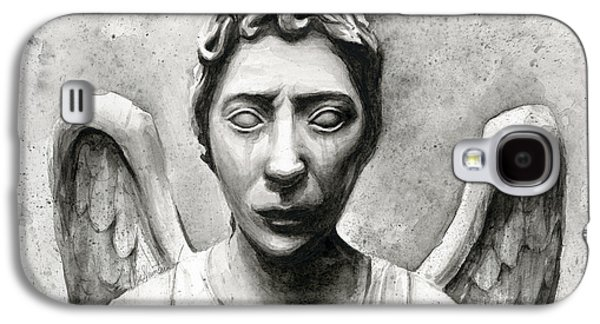Weeping Angel Don't Blink Doctor Who Fan Art Galaxy S4 Case by Olga Shvartsur