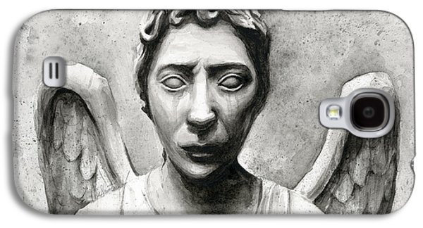 Weeping Galaxy S4 Cases - Weeping Angel Dont Blink Doctor Who Fan Art Galaxy S4 Case by Olga Shvartsur