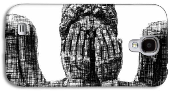 Weeping Drawings Galaxy S4 Cases - Weeping Angel Galaxy S4 Case by Harold Belarmino