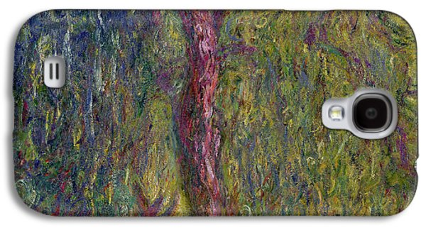Weeping Galaxy S4 Cases - Weeping Willow Galaxy S4 Case by Claude Monet