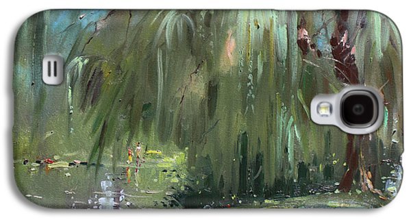Weeping Galaxy S4 Cases - Weeping Willow Tree Galaxy S4 Case by Ylli Haruni