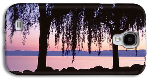 Reflecting Water Galaxy S4 Cases - Weeping Willows, Lake Geneva, St Galaxy S4 Case by Panoramic Images