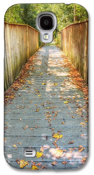 The Nature Center Galaxy S4 Cases - Wehr Nature Center Bridge in Autumn  Galaxy S4 Case by The  Vault - Jennifer Rondinelli Reilly