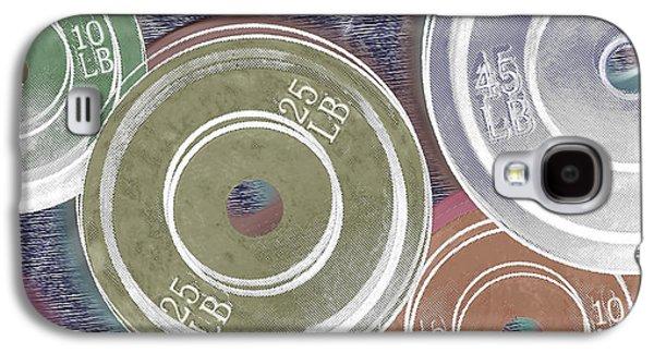 Interior Still Life Mixed Media Galaxy S4 Cases - Weight Plates Galaxy S4 Case by Tony Rubino