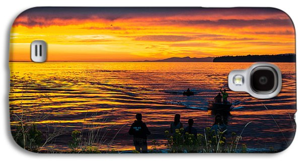 Sunset Abstract Galaxy S4 Cases - Welcome home Galaxy S4 Case by Blanca Braun