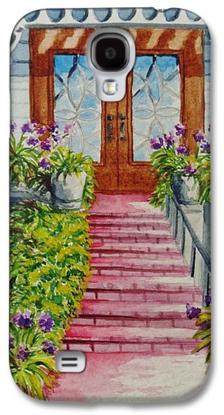 Staircase Paintings Galaxy S4 Cases - Welcome Galaxy S4 Case by Katherine Young-Beck