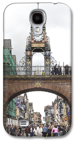 Clock Galaxy S4 Cases - Welcome to Chester Galaxy S4 Case by Mike McGlothlen