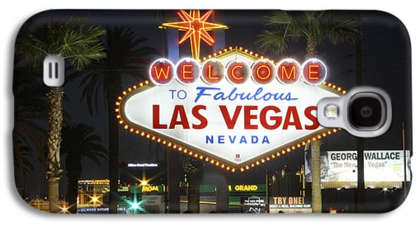 Las Vegas Art Galaxy S4 Cases - Welcome to Las Vegas Galaxy S4 Case by Mike McGlothlen