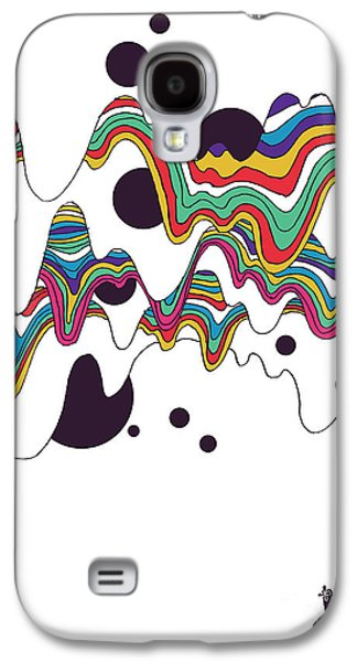 Colorful Abstract Digital Galaxy S4 Cases - Welcome to mars Galaxy S4 Case by Budi Kwan