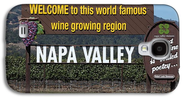 Napa Valley And Vineyards Galaxy S4 Cases - Welcome To Napa Valley California 5D29493 Galaxy S4 Case by Wingsdomain Art and Photography