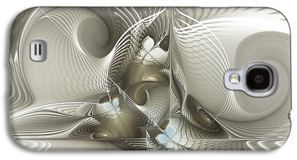 Fractal Art Galaxy S4 Cases - Welcome to the Second Floor-Fractal Art Galaxy S4 Case by Karin Kuhlmann