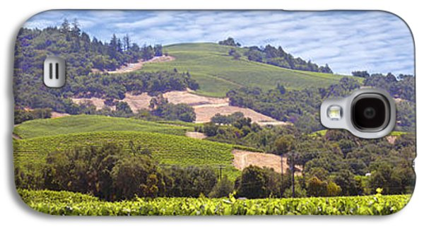 California Vineyard Galaxy S4 Cases - Welcome to Wine Country Galaxy S4 Case by Mike McGlothlen