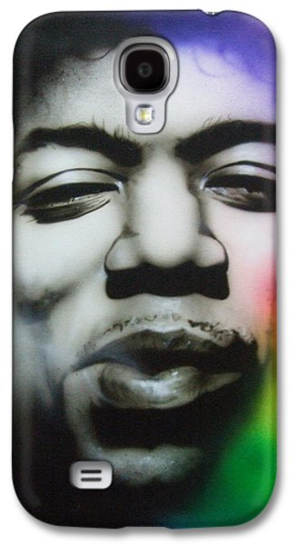 Jimi Hendrix Paintings Galaxy S4 Cases - Well I Stand Up Next to a Mountain Galaxy S4 Case by Christian Chapman Art