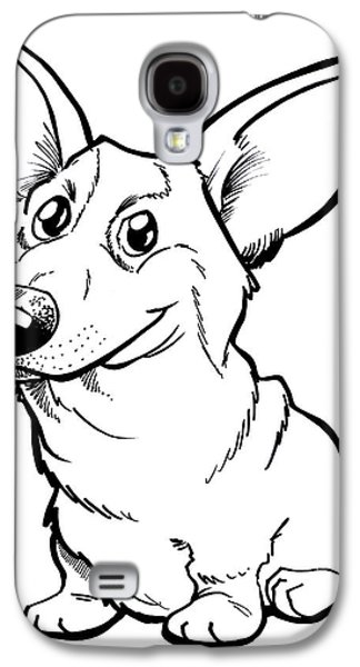 Owner Drawings Galaxy S4 Cases - Welsh Corgi Galaxy S4 Case by Big Mike Roate
