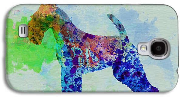 Puppies Galaxy S4 Cases - Welsh Terrier Watercolor Galaxy S4 Case by Naxart Studio