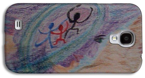 Dreamscape Pastels Galaxy S4 Cases - Were Figments of  Alien Imagination Galaxy S4 Case by Yve Hockenbury Moore
