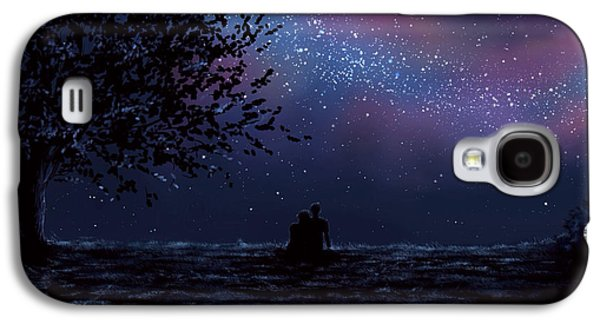 Digital Paintings Galaxy S4 Cases - We are still looking up Galaxy S4 Case by Veronica Minozzi