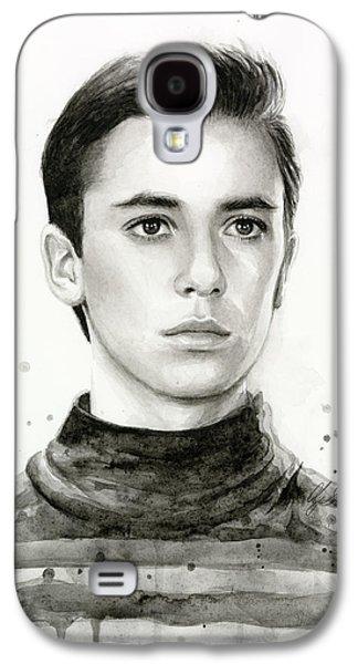 Science Fiction Paintings Galaxy S4 Cases - Wesley Crusher Star Trek Fan Art Galaxy S4 Case by Olga Shvartsur