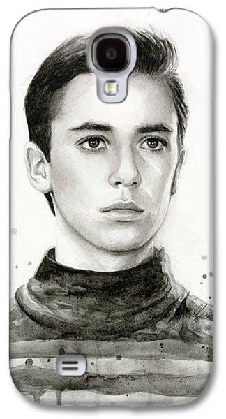 Star Trek Galaxy S4 Cases - Wesley Crusher Star Trek Fan Art Galaxy S4 Case by Olga Shvartsur