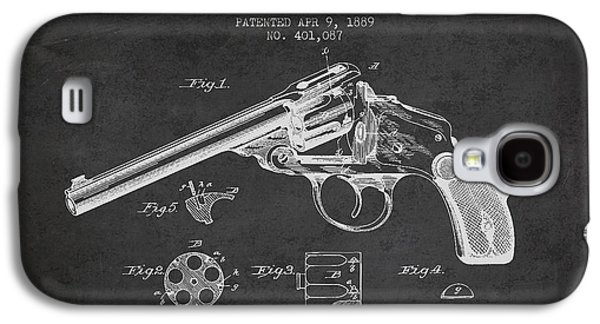 Wesson Revolver Patent Drawing From 1889 - Dark Galaxy S4 Case by Aged Pixel