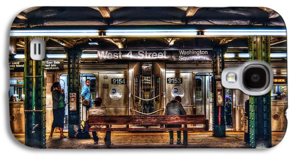 Manhattan Street Galaxy S4 Cases - West 4th Street Subway Galaxy S4 Case by Randy Aveille