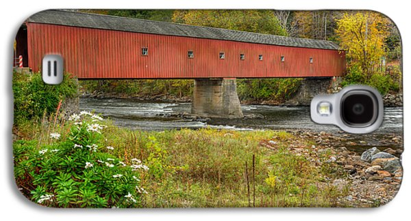 Harts Galaxy S4 Cases - West Cornwall Covered Bridge Galaxy S4 Case by Bill  Wakeley