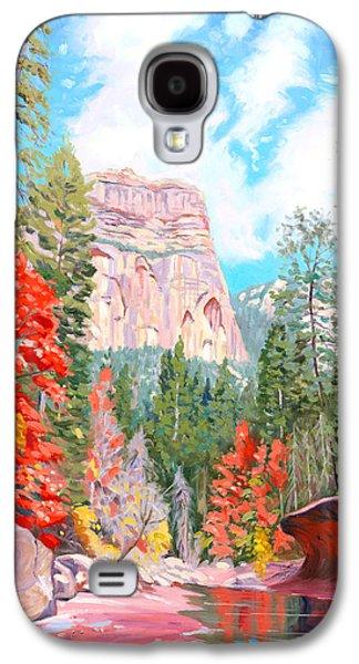 Oak Creek Galaxy S4 Cases - West Fork - Sedona Galaxy S4 Case by Steve Simon