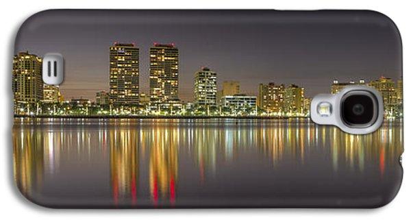 Waterscape Galaxy S4 Cases - West Palm Beach Skyline Galaxy S4 Case by Debra and Dave Vanderlaan