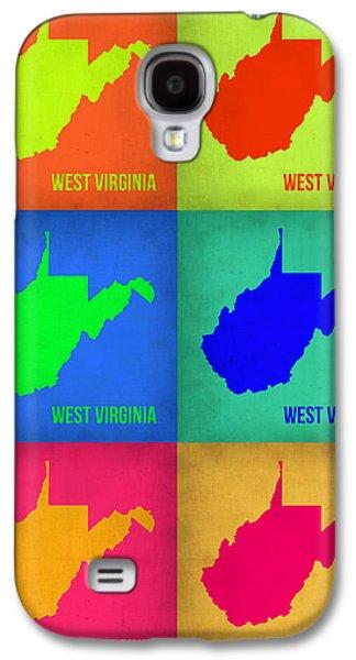 West Digital Galaxy S4 Cases - West Virginia Pop Art Map 1 Galaxy S4 Case by Naxart Studio
