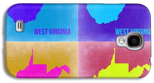 West Digital Galaxy S4 Cases - West Virginia Pop Art Map 2 Galaxy S4 Case by Naxart Studio