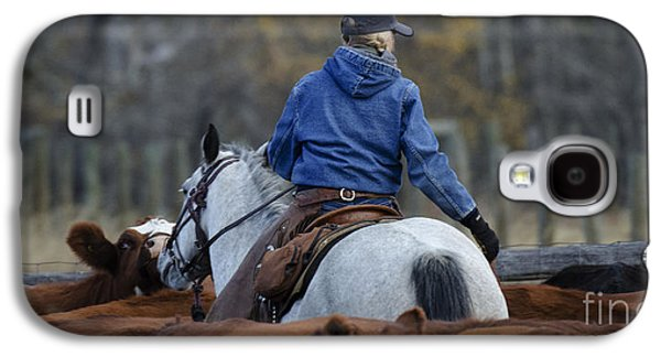 Cattle Drive Photographs Galaxy S4 Cases - Western Living 1 Galaxy S4 Case by Bob Christopher