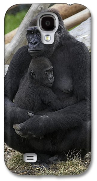 Western Lowland Gorilla Mother And Baby Galaxy S4 Case by San Diego Zoo