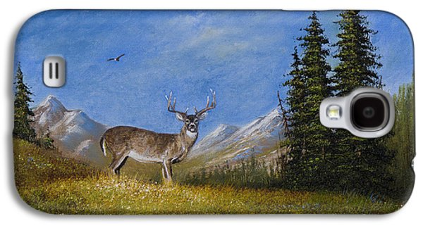 Western Whitetail Galaxy S4 Case by C Steele