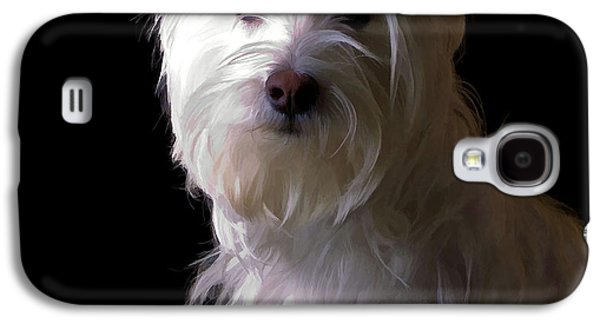 Best Sellers Photographs Galaxy S4 Cases - Westie Drama Galaxy S4 Case by Edward Fielding