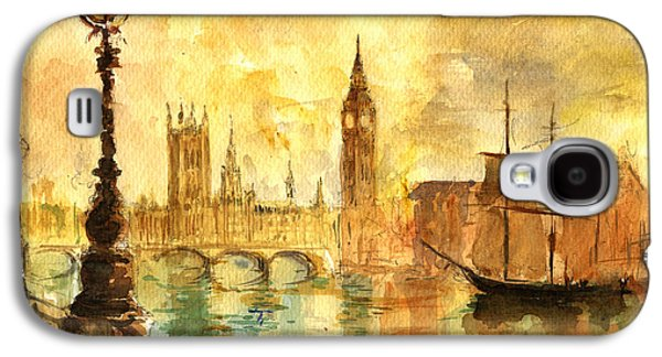 Westminster Palace London Thames Galaxy S4 Case by Juan  Bosco