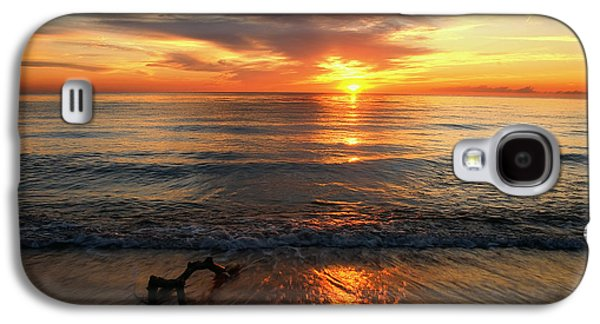 Waterscape Pyrography Galaxy S4 Cases - Weststrand Galaxy S4 Case by Steffen Gierok