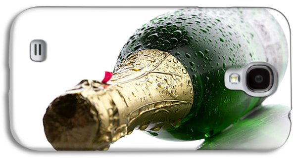 Liquor Photographs Galaxy S4 Cases - Wet Champagne bottle Galaxy S4 Case by Johan Swanepoel