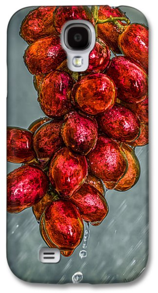 Abstract Rain Galaxy S4 Cases - Wet Grapes Four Galaxy S4 Case by Bob Orsillo