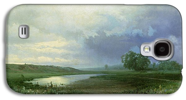 Wet Galaxy S4 Cases - Wet Meadow Galaxy S4 Case by Fedor Aleksandrovich Vasiliev