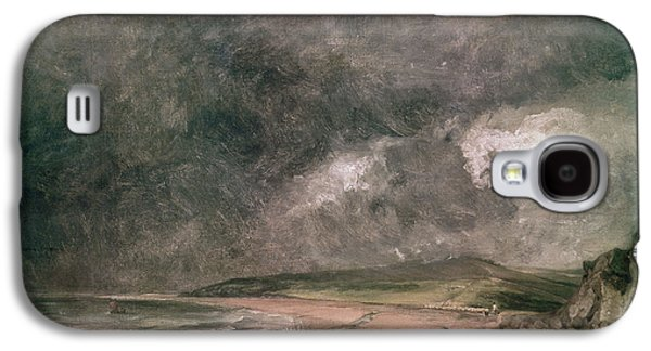 Tempest Galaxy S4 Cases - Weymouth Bay With Approaching Storm Oil On Canvas Galaxy S4 Case by John Constable