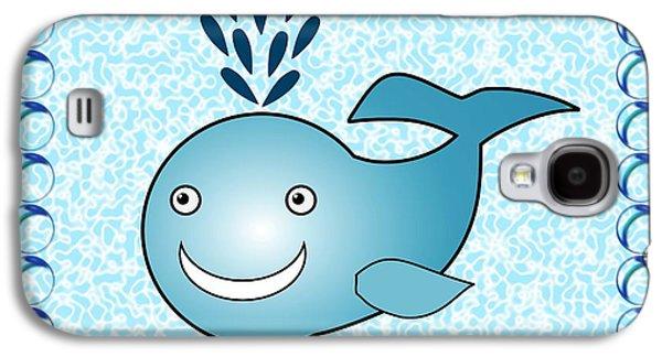 Girl Galaxy S4 Cases - Whale - Animals - Art for Kids Galaxy S4 Case by Anastasiya Malakhova