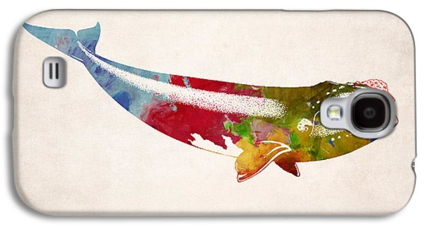 Whale Digital Art Galaxy S4 Cases - Whale Illustration Design Galaxy S4 Case by World Art Prints And Designs