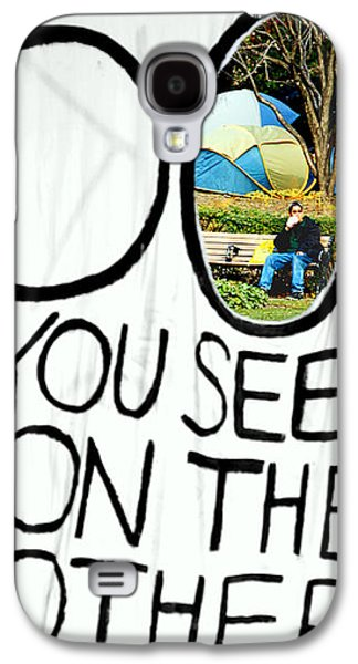 What Do You See On The Other Side Galaxy S4 Case by Valentino Visentini