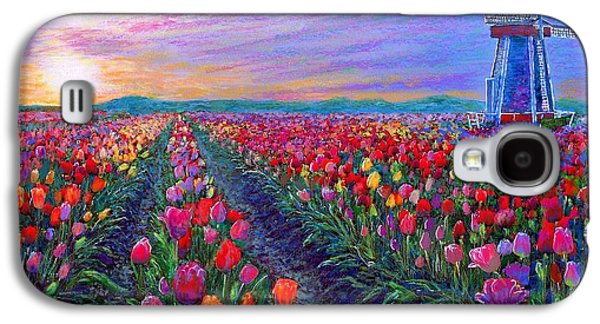 Tulip Fields, What Dreams May Come Galaxy S4 Case by Jane Small