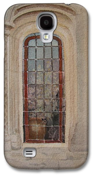 What Is Behind The Window Pane Galaxy S4 Case by Mary Ellen Mueller Legault